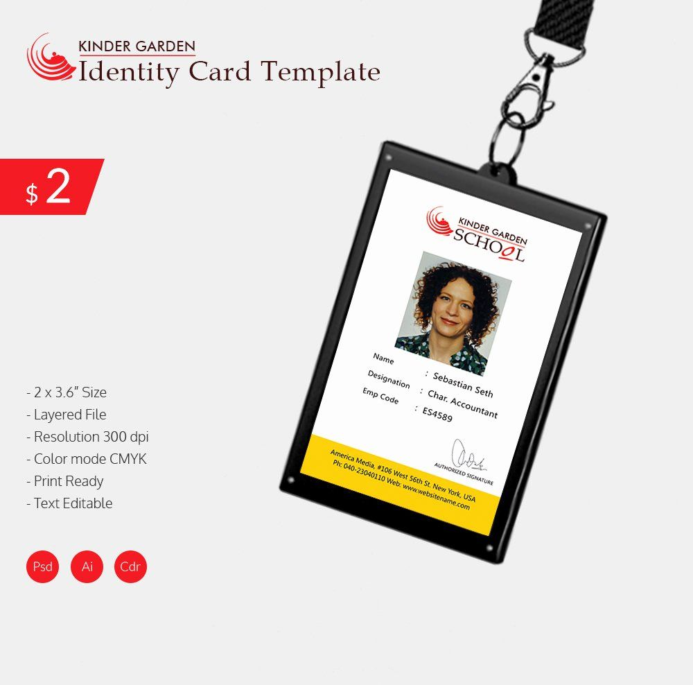 Free Id Card Template Word Best Of Free Id Card Template Word Templates Collections In 2020 Id Card Template Employee Id Card Card Template