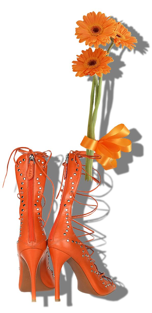 Azzedine Alaia studded leather lace-up sandals