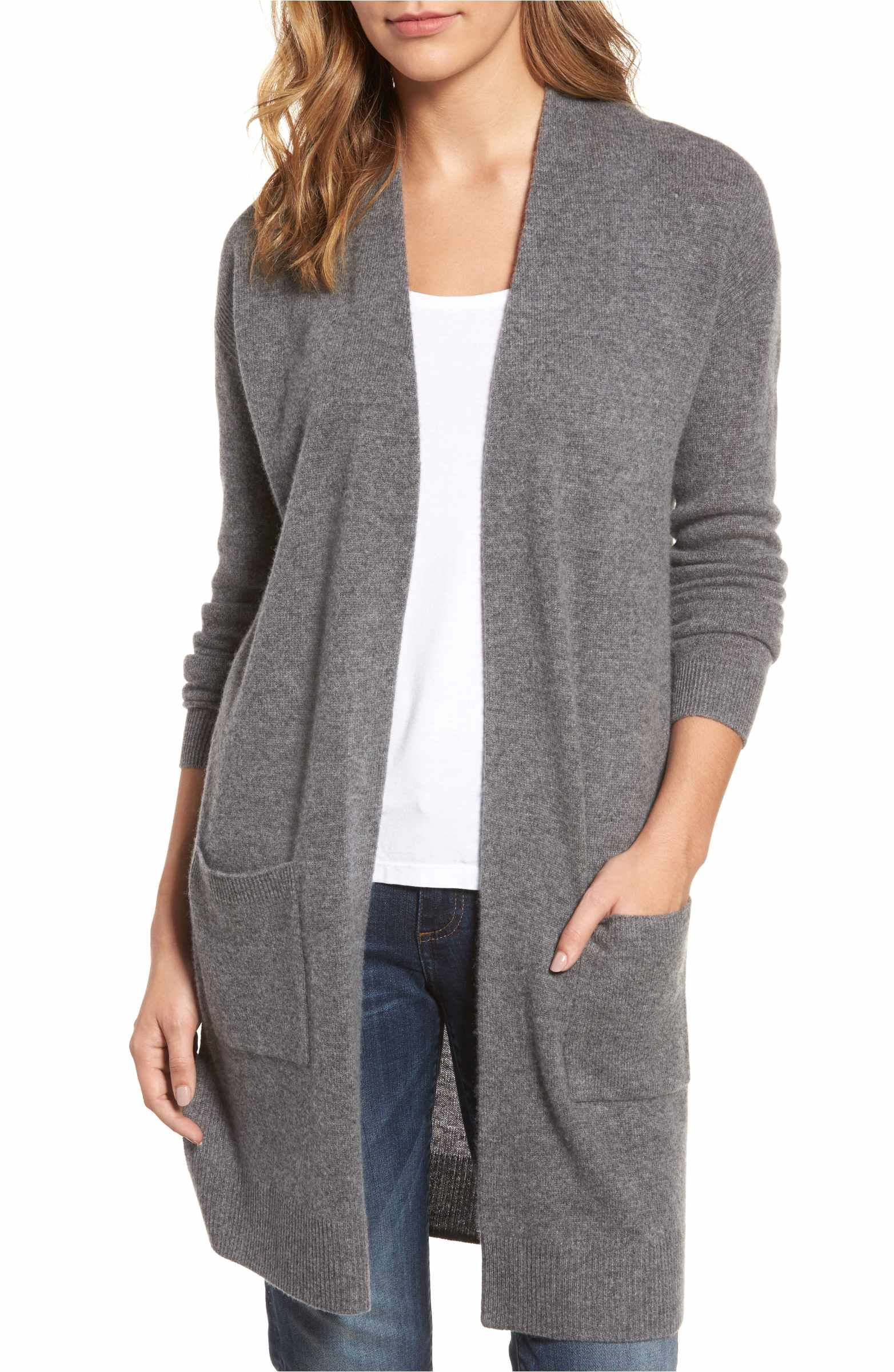 Rib Knit Wool & Cashmere Cardigan | Rib knit, Cashmere and Clothes