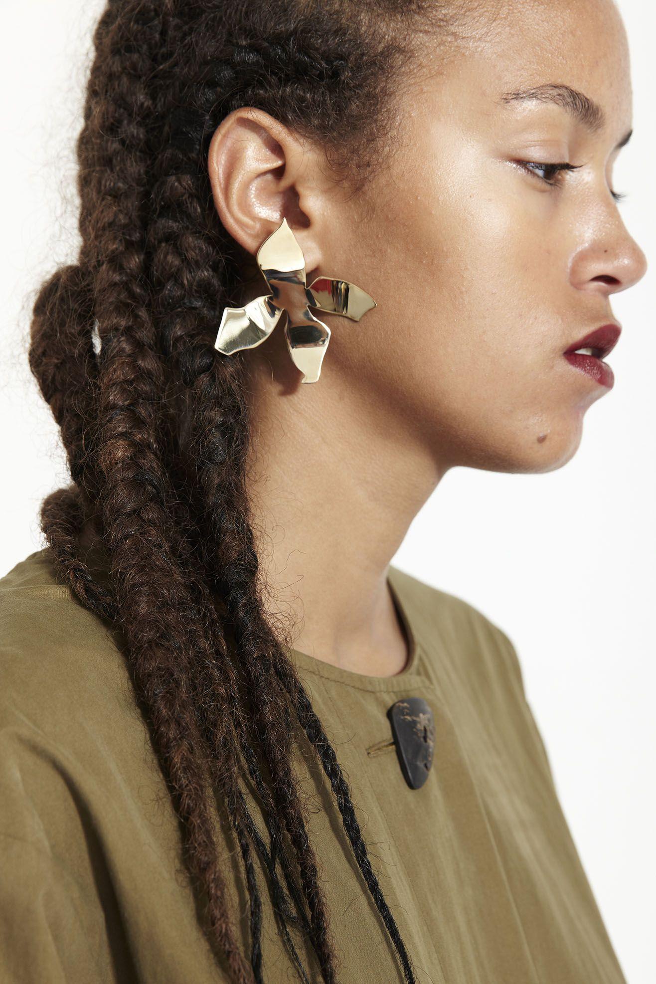 Mr larkin faris lady earrings large bronze jewelry