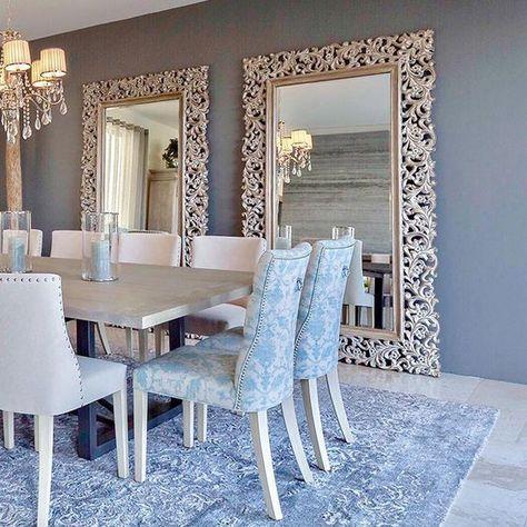 25 Comedores decorados con espejos | Room ideas, Salons and Room
