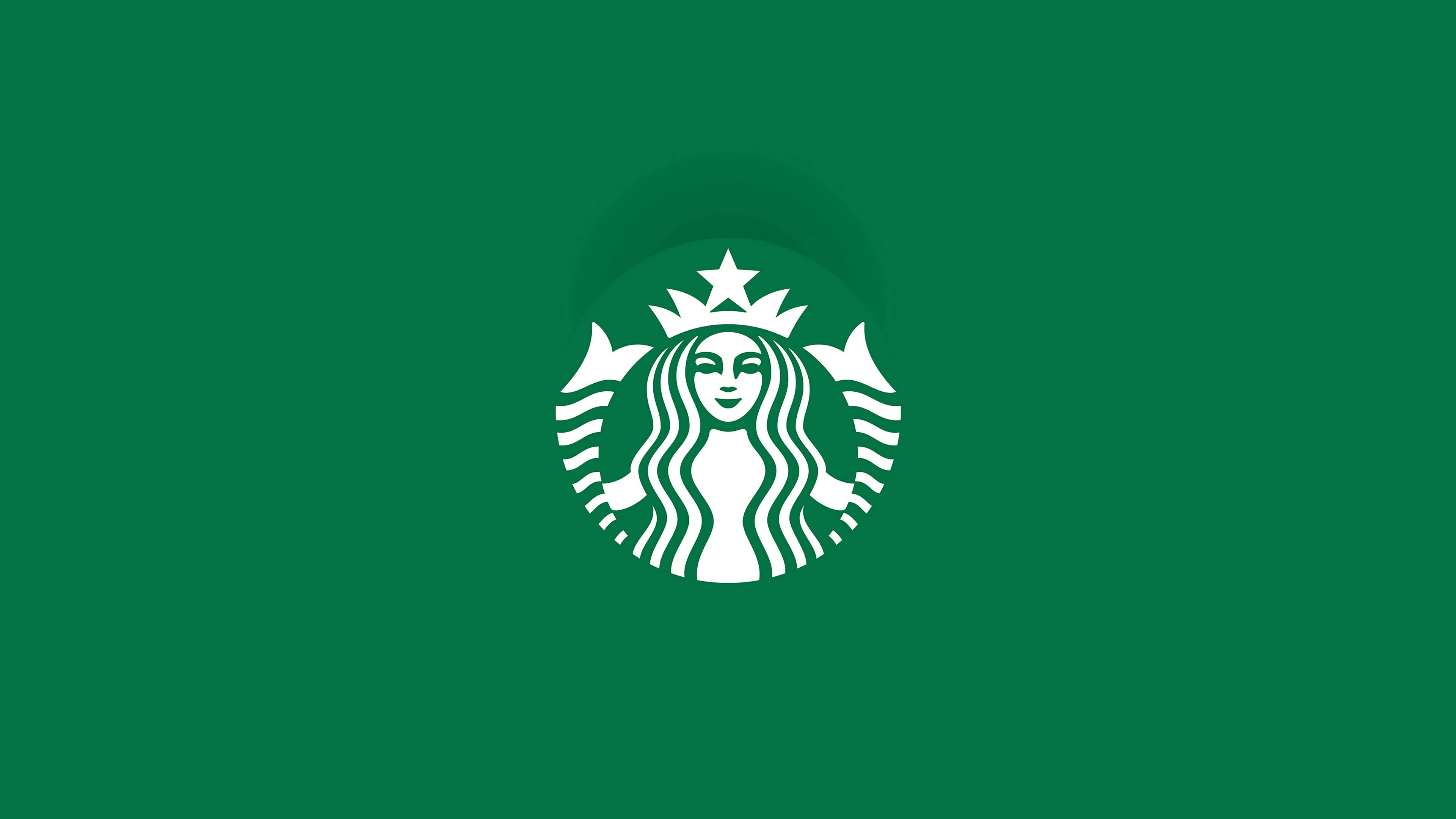 High Resolution Green Starbucks Logo Wallpaper Ultra HD