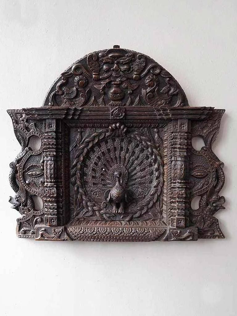 Finely Carved Peacock Wall Panel India Wall Paneling Wood Wall