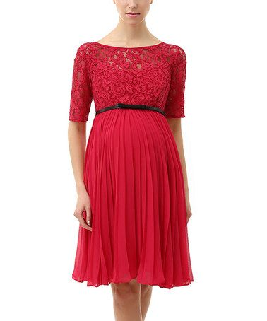 Another great find on #zulily! MOMO Red Alice Maternity Dress by ...