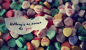 Nada é doce como você.
