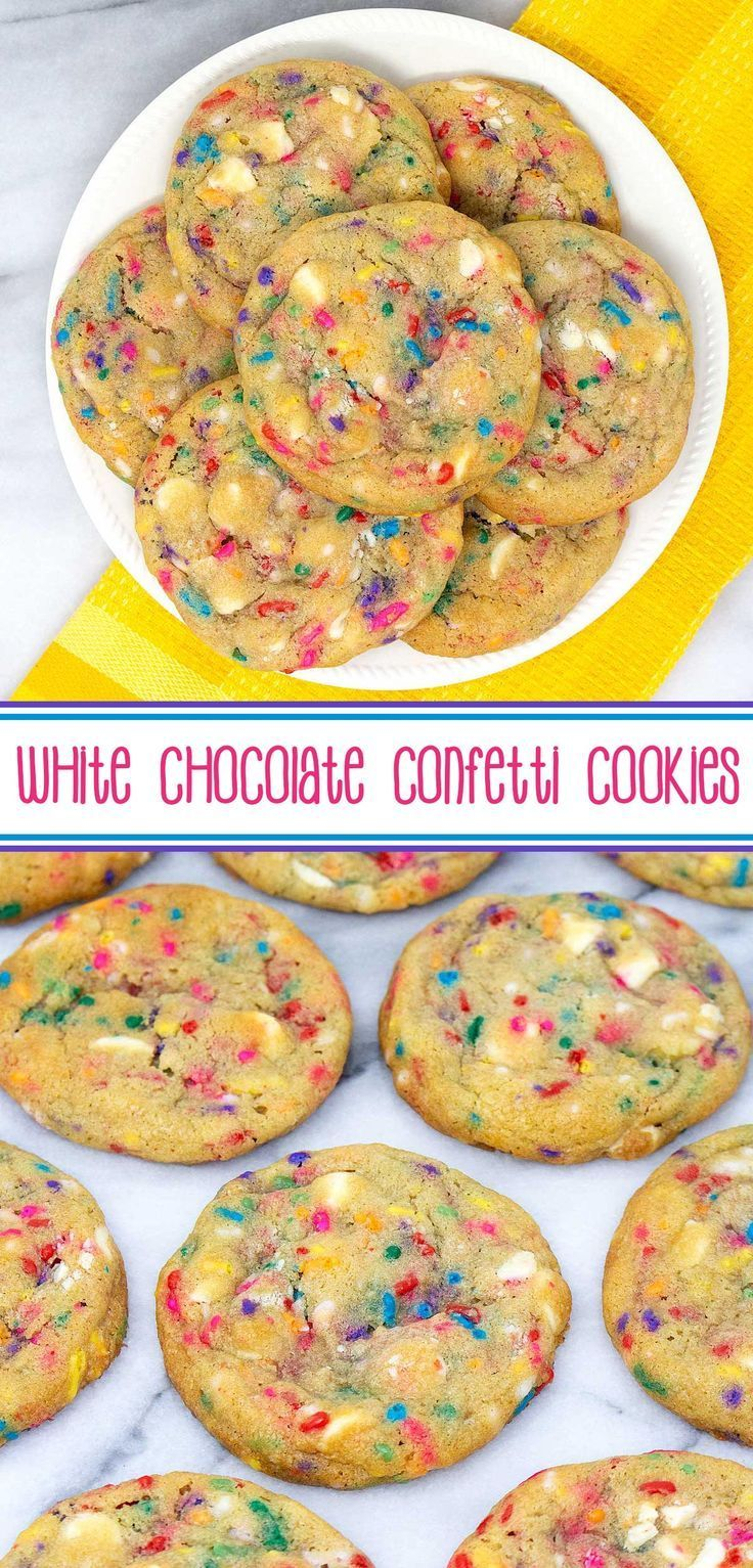 White Chocolate Confetti Cookies #desertlife