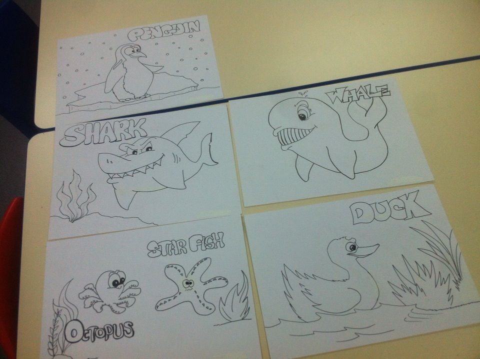 Coloring pages I created for our waiting area. | ABC Pathways ...