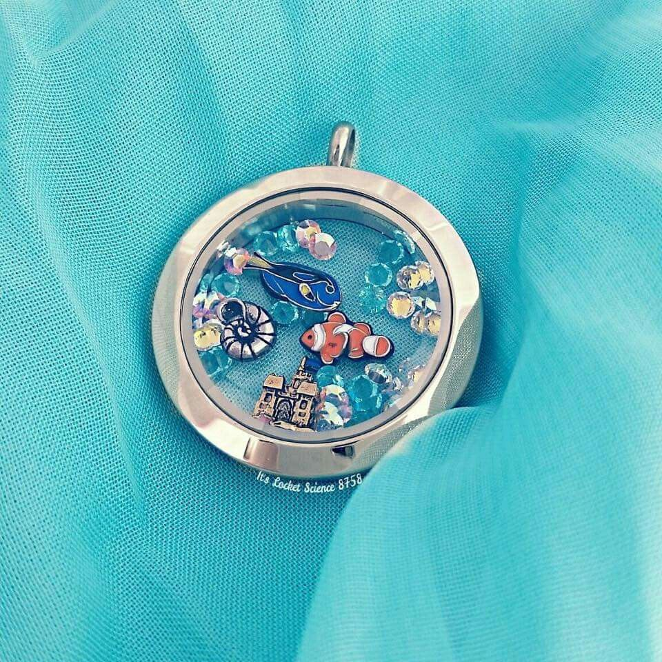 New Origami Owl Summer Collection, available June 1st.... Order at www.tangledinlockets.origamiowl.com #underthesea #clownfish #sandcastle #origamiowl #locket
