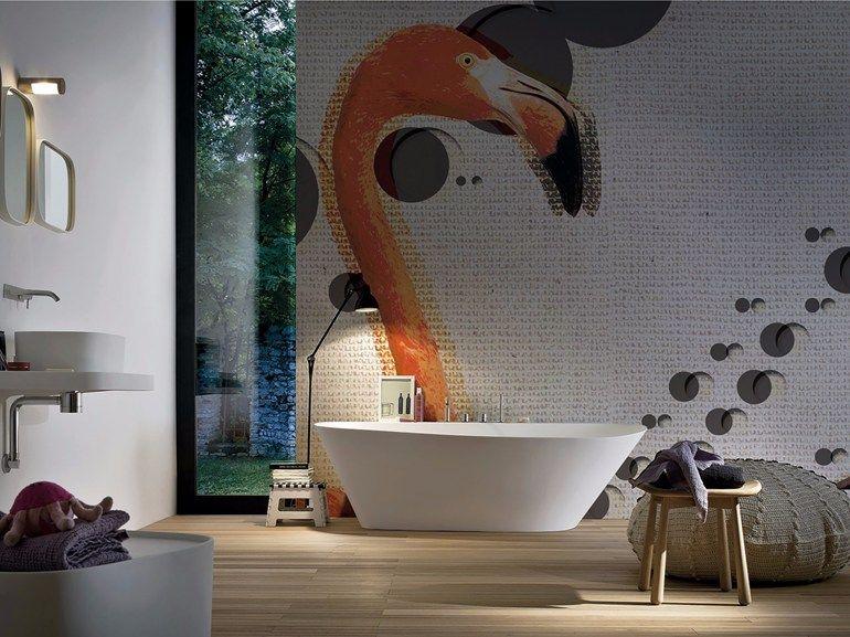 Fototapete Badezimmer ~ Blumen tapete panorama aus glasfaser im modernen stil van gi
