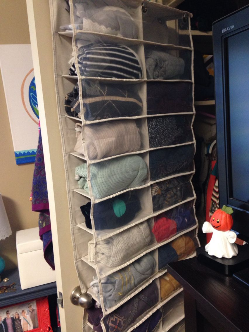 The Best Way To Store Sweaters In A College Dorm Room Closet Use A