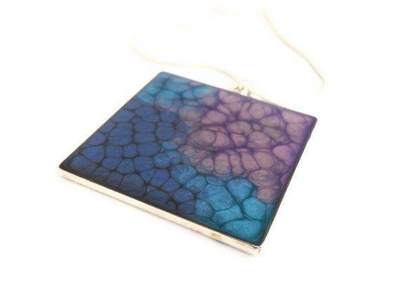 handmade lavender purple blue turquise pendant by oBocreations, $19.00