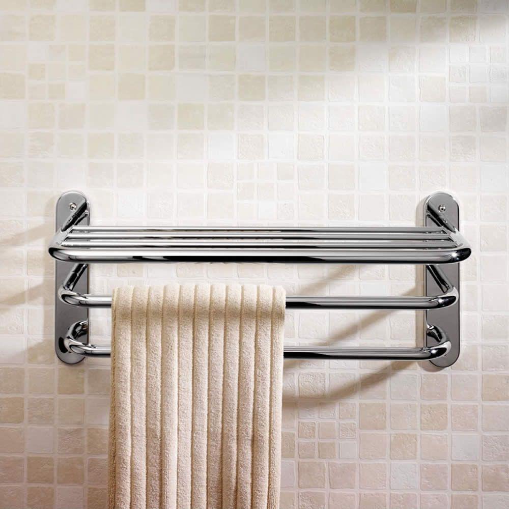 Ultra Chrome 3 Tier Towel Rack | Towels, Chrome and Guest bath