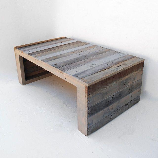 Raka Mod Modern Grey Pallet Coffee Table Pallet Wood Coffee