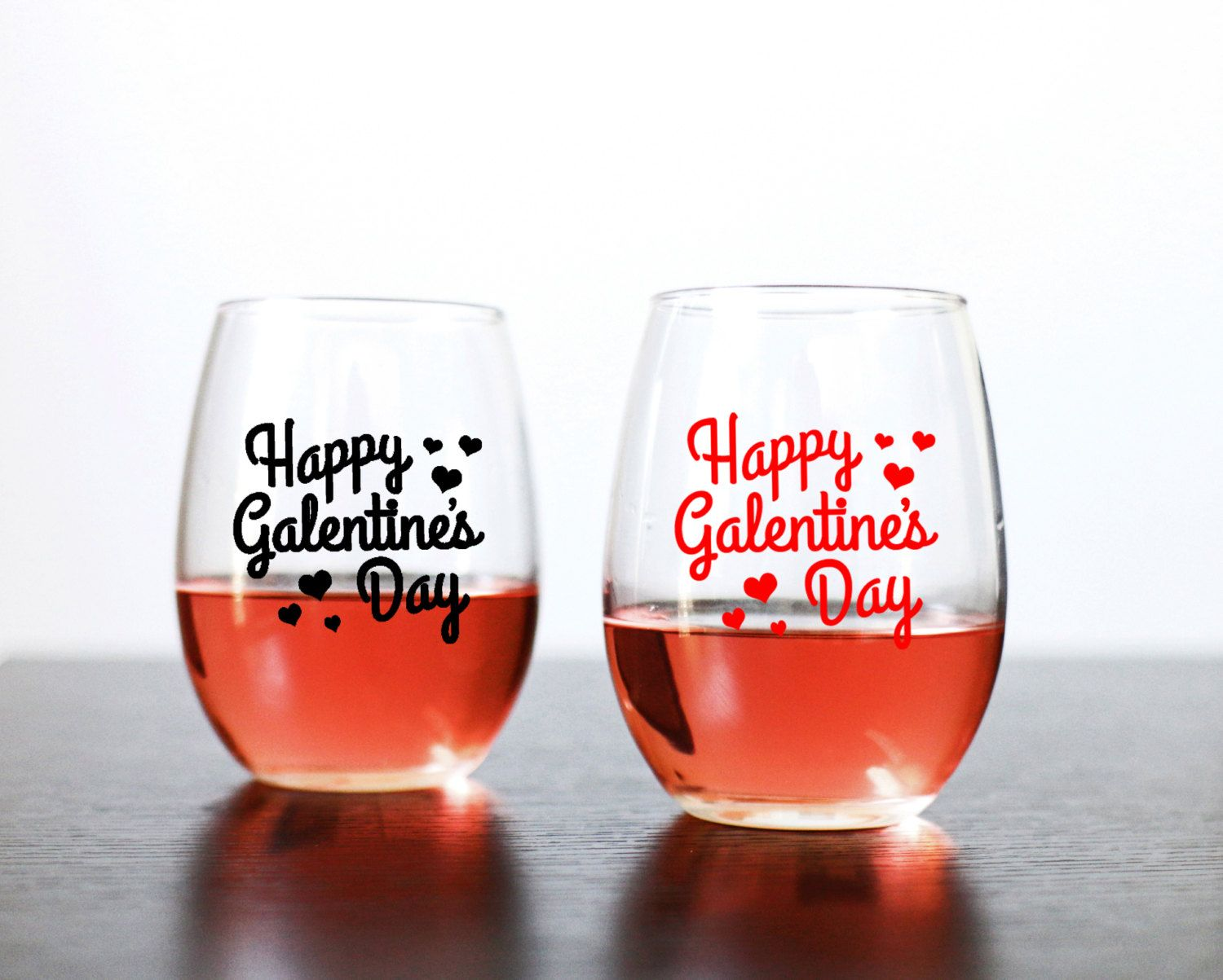 Happy Galentine S Day 15oz Stemless Wine Glass Parks And Rec Inspired Wine Glass Gifts For Her Ladie Happy Galentines Day Glass Gifts Stemless Wine Glass