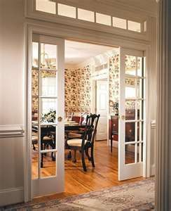 pocket french doors for library study dining room ...