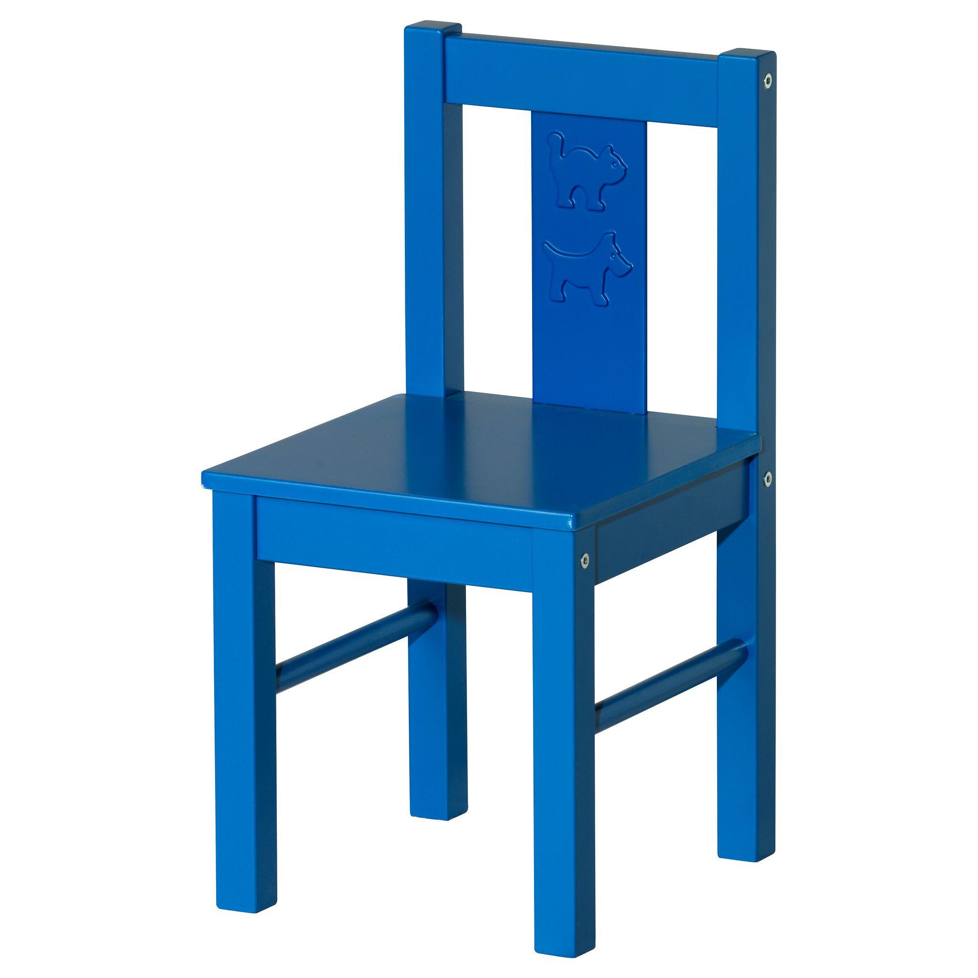 KRITTER Childrens Chair   Blue   IKEA