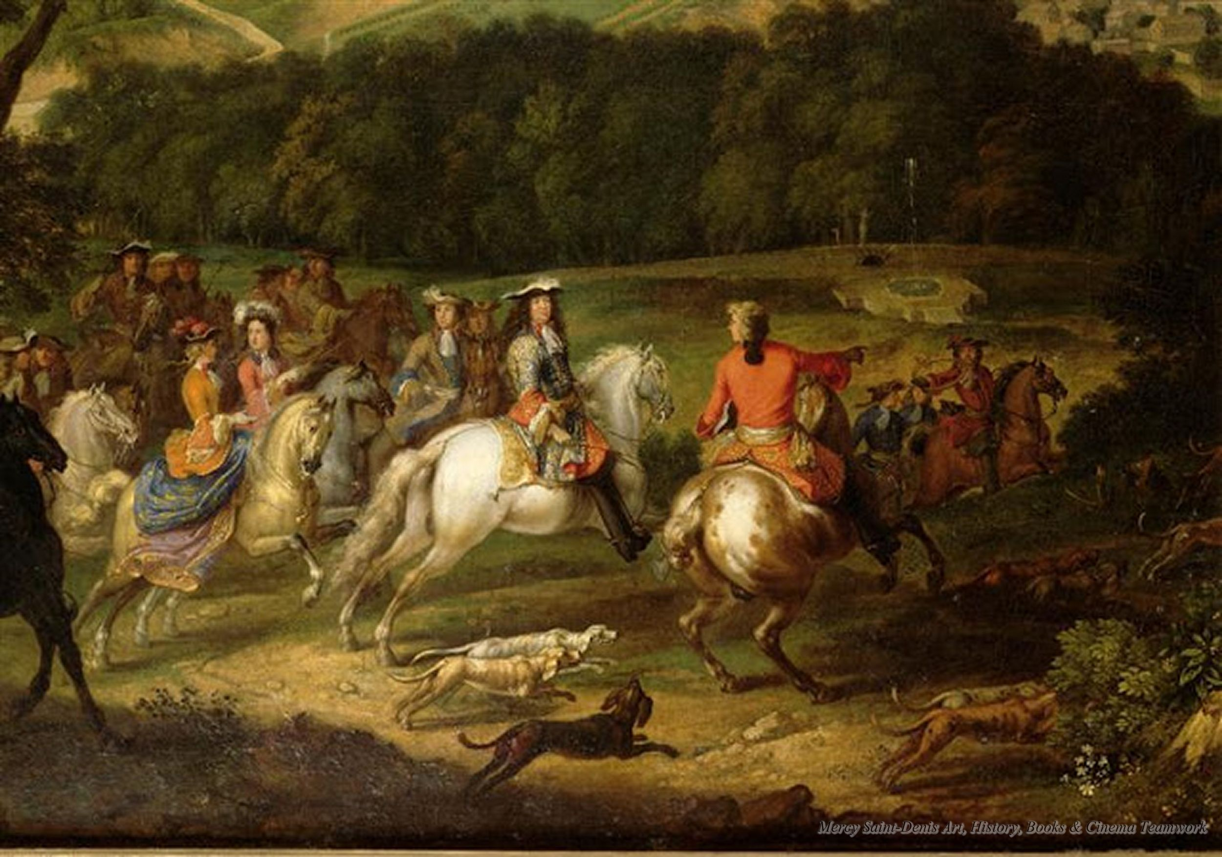 Louis XIV and his Court Hunting at the Chateau of Meudon by Steven van der  meulen,1670s. | Hamelin, Painting, Painting reproductions
