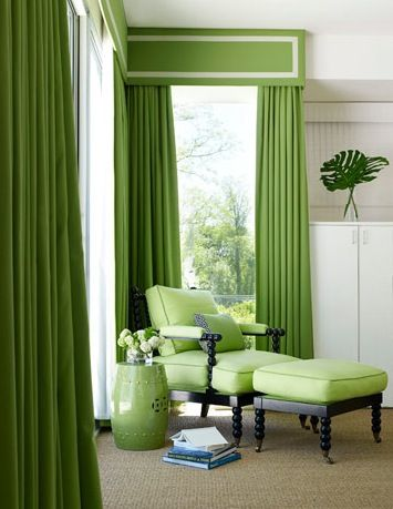 tailored green drapes- I haven't found anything this color in stores??