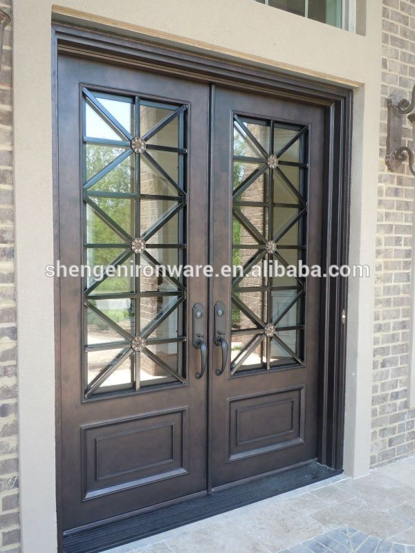Sen D055 Exterior Modern Wrought Iron Door Photo Detailed About