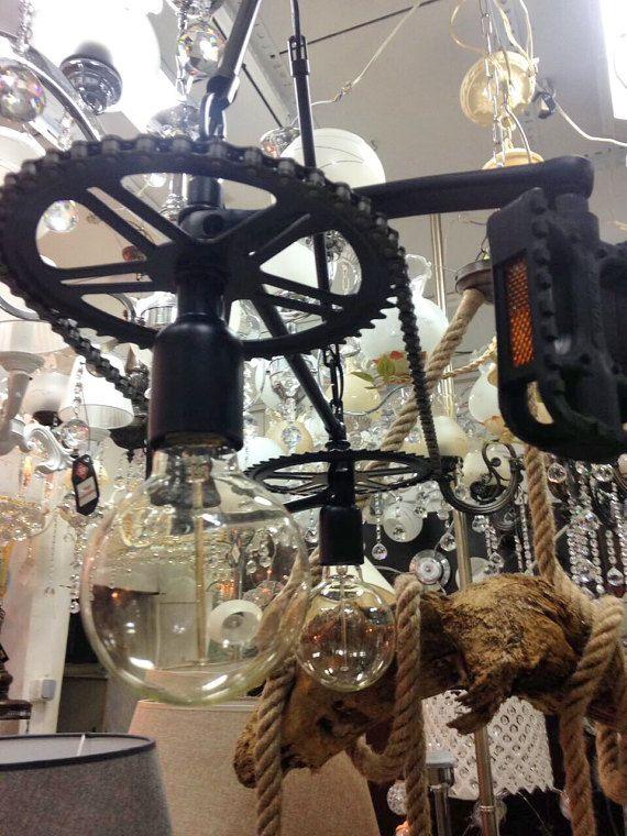Industriele Lamp Fiets Licht Kroonluchter Industriele Verlichting Plafond Armatuur Moderne Lamp Industriele Armatuur Wie Ceiling Lights Chandelier Light