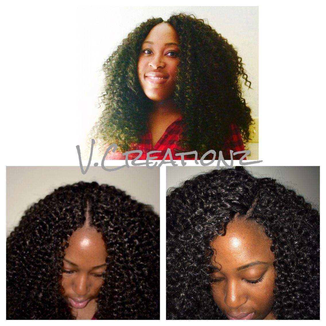 Crochet braids using freetress water wave hair crochet braids