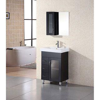 24 Bathroom Vanity With Medicine Cabinet design element oslo 24-inch modern bathroom vanity setdesign