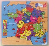 Puzzle Mapa Francia de madera 30 cm. Pack 9 udes