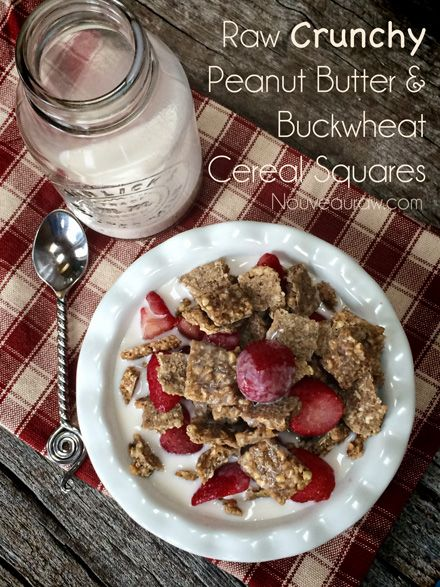 Crunchy Peanut Butter and Buckwheat Cereal Squares ...