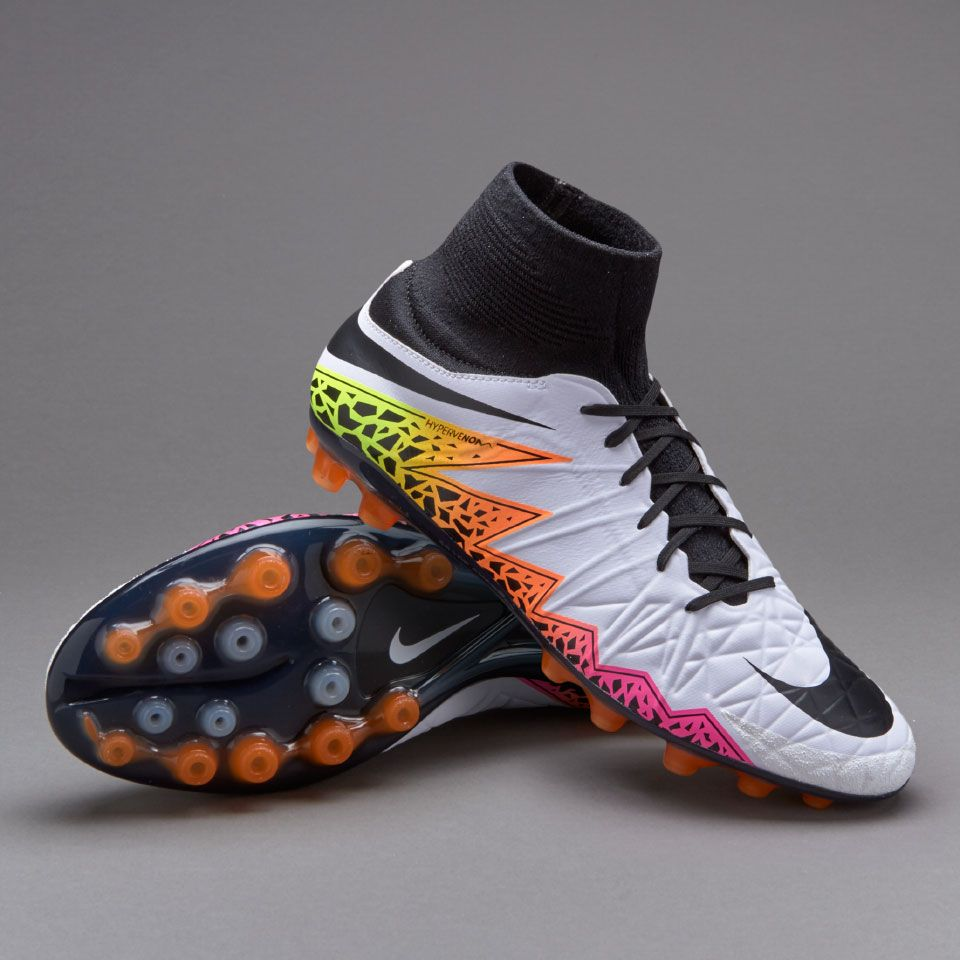 Nike Hypervenom Phatal II DF AG-R - Mens Boots - Artificial Grass -  White/Black/Total Orange/Volt