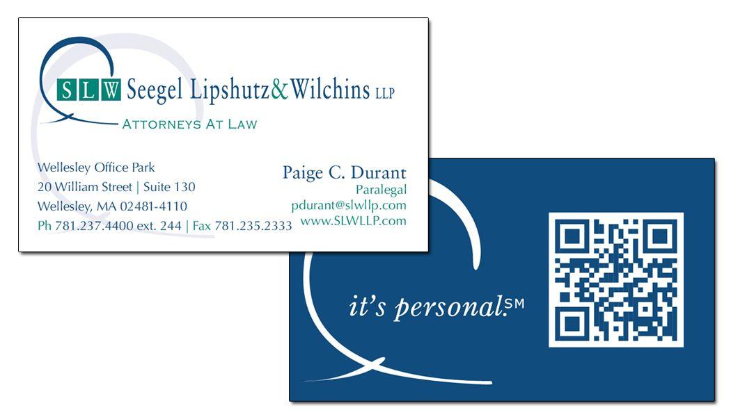 Seegel Lipshutz Wilchins 2 Sided Card W Qr Code