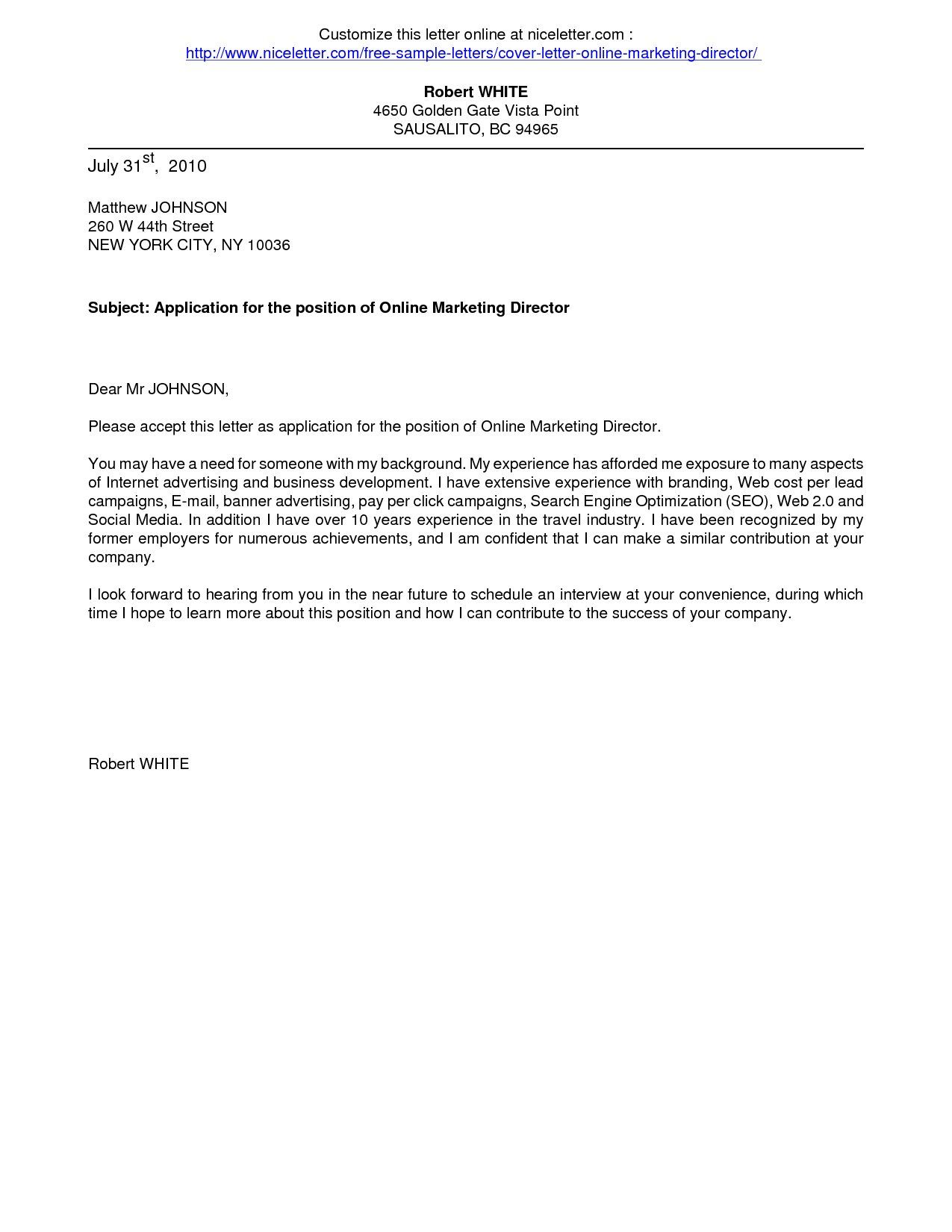 Cover Letters Cover Letter For Online Application Business