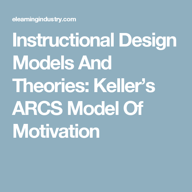 Instructional Design Models And Theories Kellers Arcs Model Of