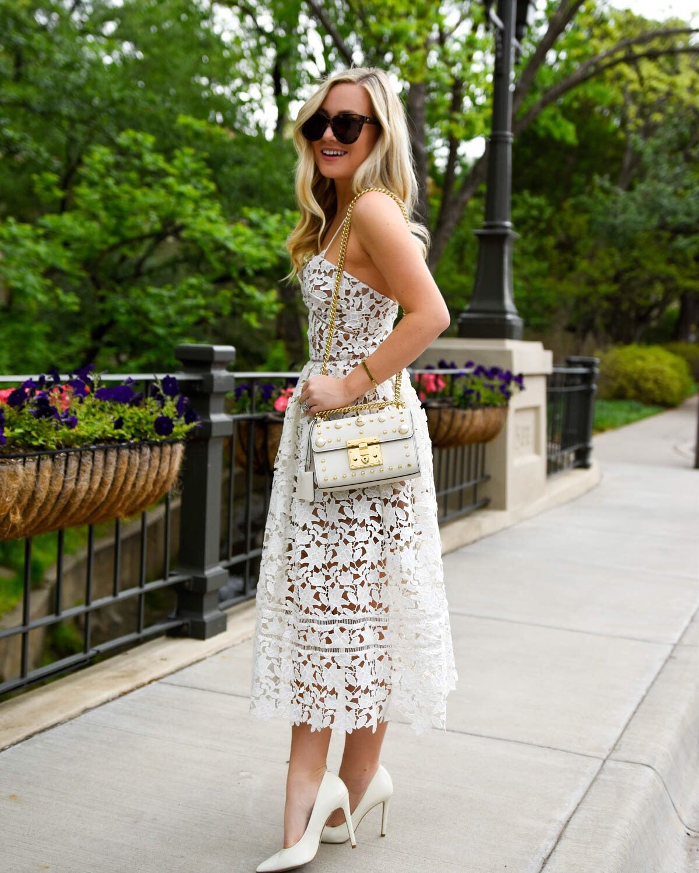 fba4cd1498803c Self-Portrait-Azaelea-dress, Nordstrom-Dresses, White-lace-dress,  Gucci-Handbag