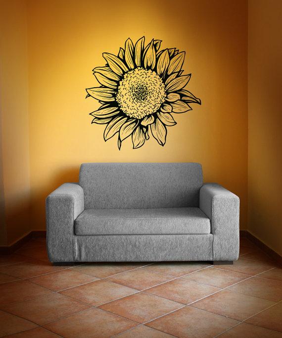 Vinyl Wall Decal Sticker Sunflower 1069m | Wall decal sticker ...