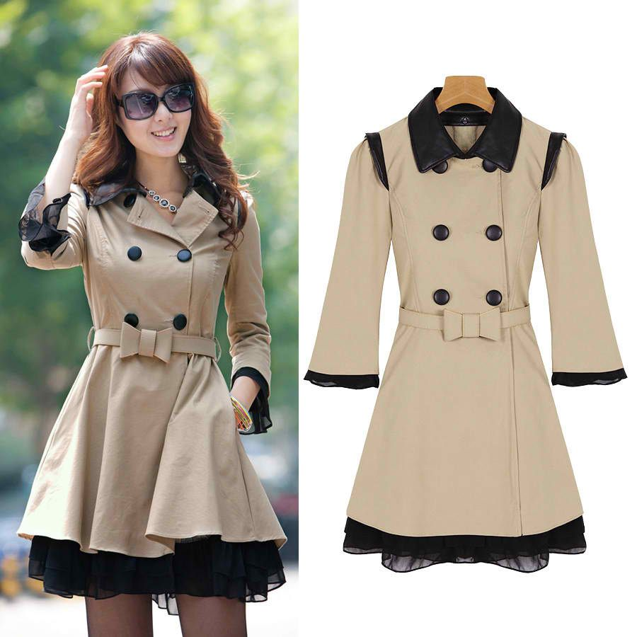 Double Breasted Slim Long Style Spring Jacket For Women | Dresscab ...