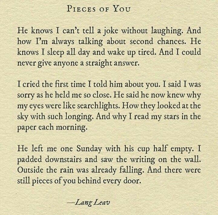 Pieces of you, lang leav 💕 | Lang leav & Michael Faudet