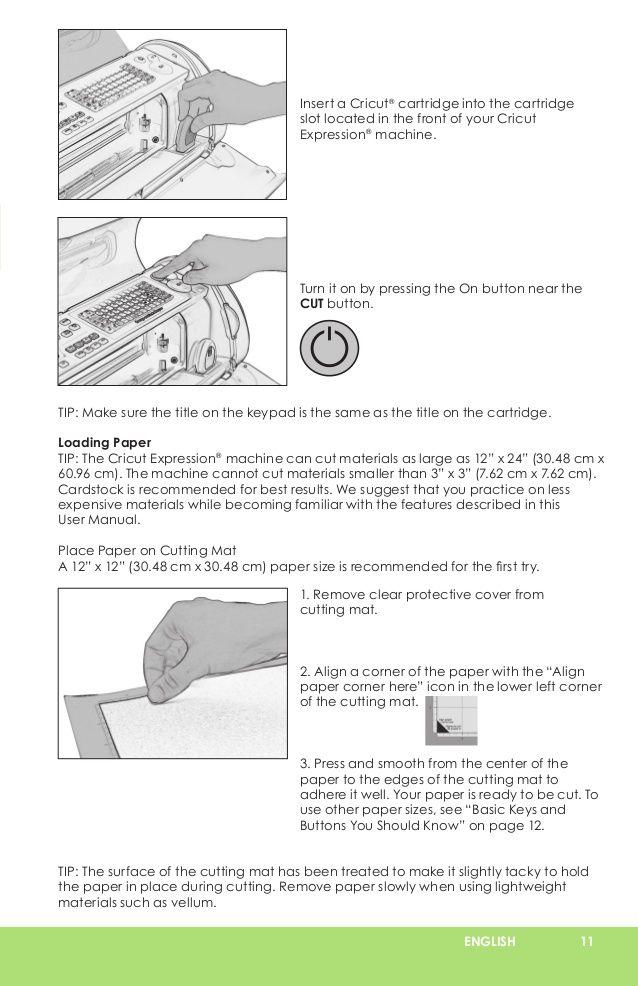 cricut expression user manual learn cricut scrapbooking rh pinterest co uk Cricut Expression User Manual PDF cricut expression user manual pdf