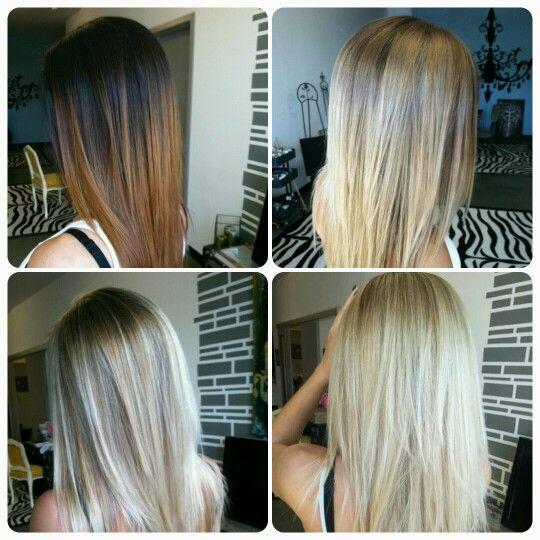 Going Blonde From Dark Brown Brunette To Blonde Brown Blonde