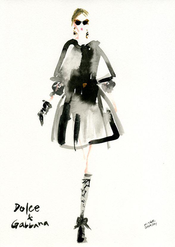 Dolce & Gabbana FALL 2012 READY-TO-WEAR | Miyuki Ohashi #illustration