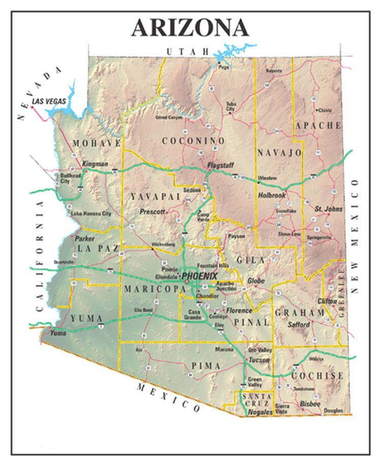 Arizona statehood and constitution cities of