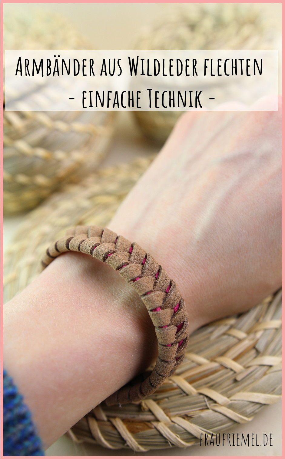 Armbänder DIY: Armband flechten mit Wildleder einfache DIY