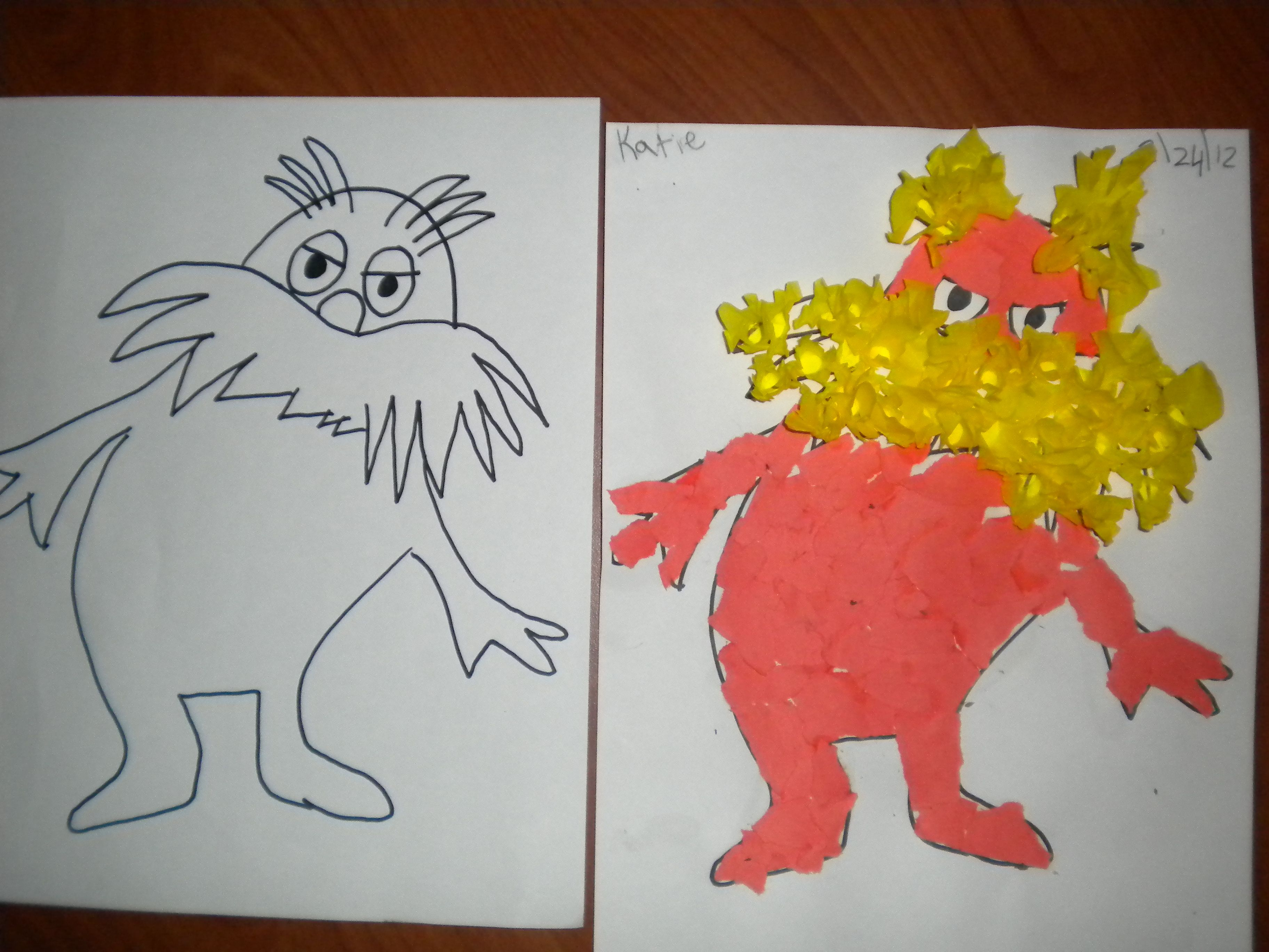 Worksheets Student Worksheet To Accompany The Lorax lorax art i created the outline of on left left
