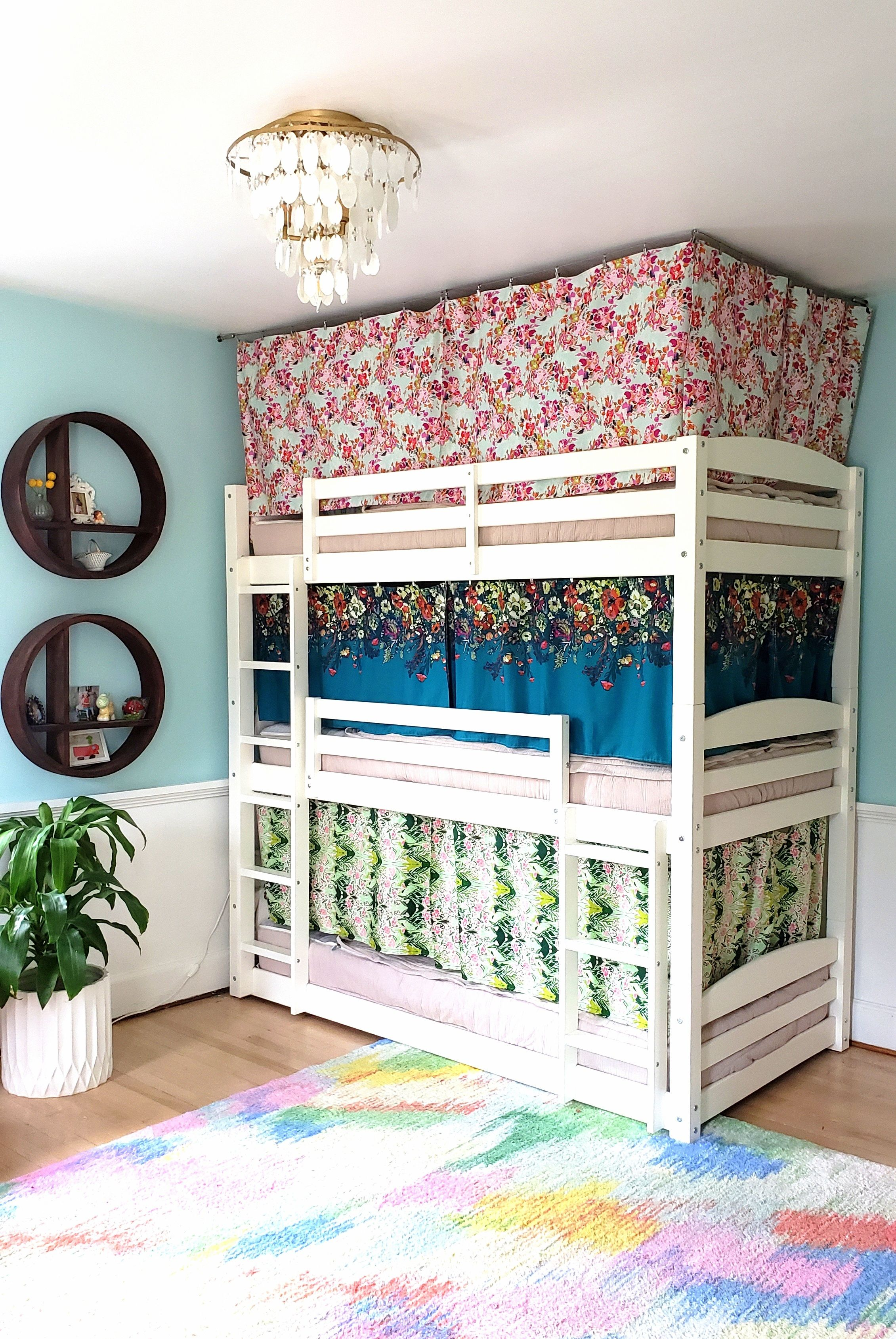 Bunk Bed Curtains Howto Tutorial {Reality Daydream