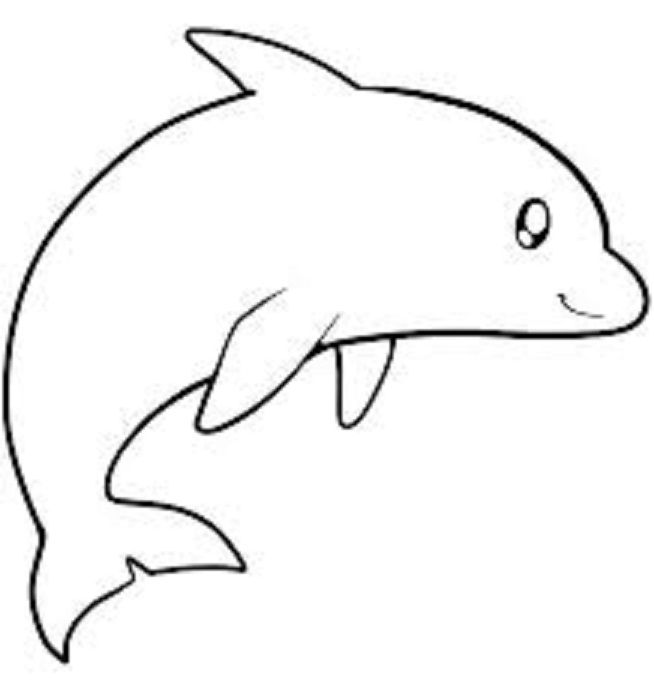 Fish Coloring Pages For Kids Preschool And Kindergarten Dolphin Coloring Pages Fish Drawing For Kids Dolphins For Kids