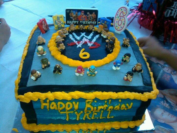 WRESTLING Wrestlers WWE 2 Figures Cage Birthday Cake Decorating Topper Kit  Set on eBay!