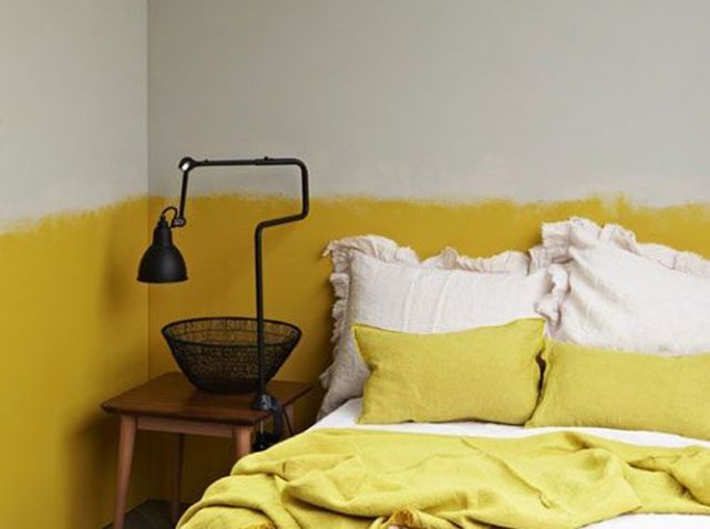 Mur tie and dye jaune moutarde | Maison | Pinterest | Moutarde ...