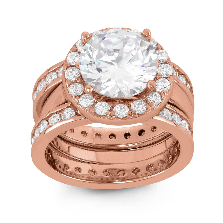 Fingerhut Tiara 14K Rose GoldPlated Sterling Silver 3