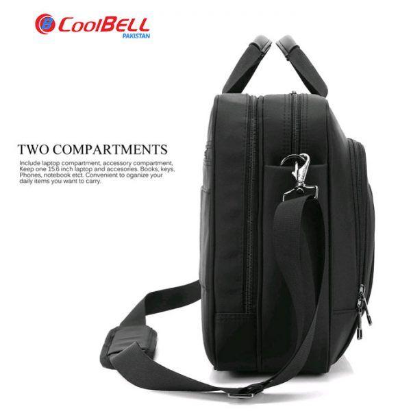 1d0092a211de Coolbell Double Zipper Laptop Bag 15.6″ Inch Shoulder Briefcase ...