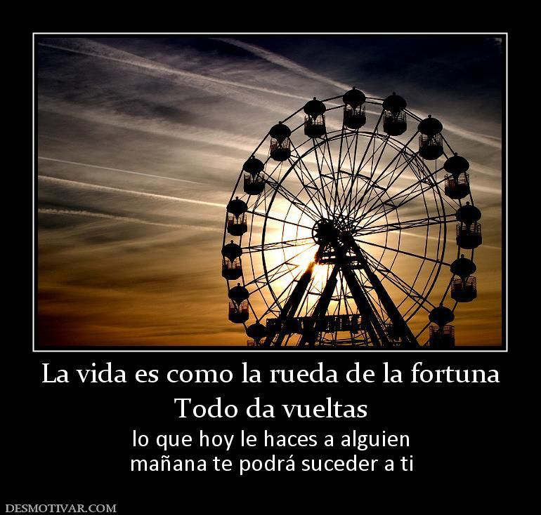 La Vida Es Como La Ruleta De La Fortuna