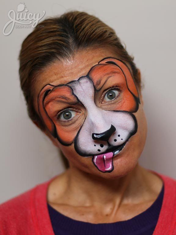 5 Ways To Face Paint A Puppy Dog Dog Face Paints Face Painting Puppy Face Paint
